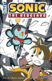 Sonic The Hedgehog #21 cover