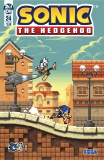 Sonic The Hedgehog #24 cover