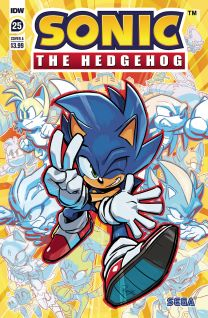 Sonic The Hedgehog #25 cover