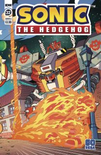 Sonic The Hedgehog #32 cover