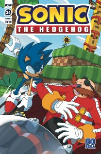 Sonic The Hedgehog #34 cover