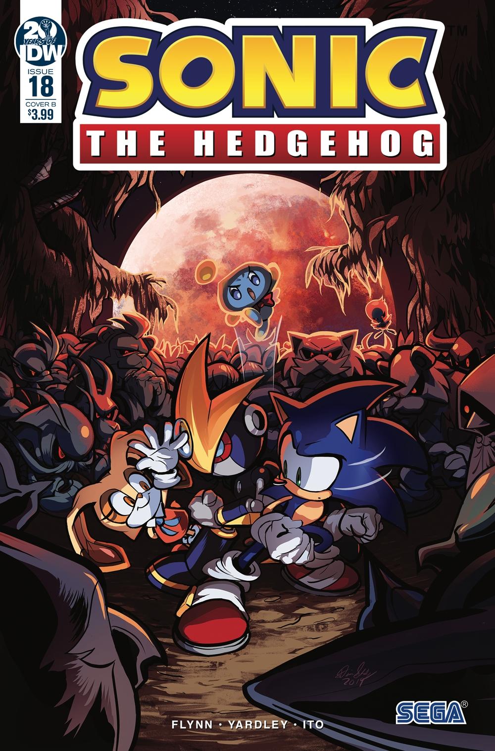 Sonic The Hedgehog #18 Cover B