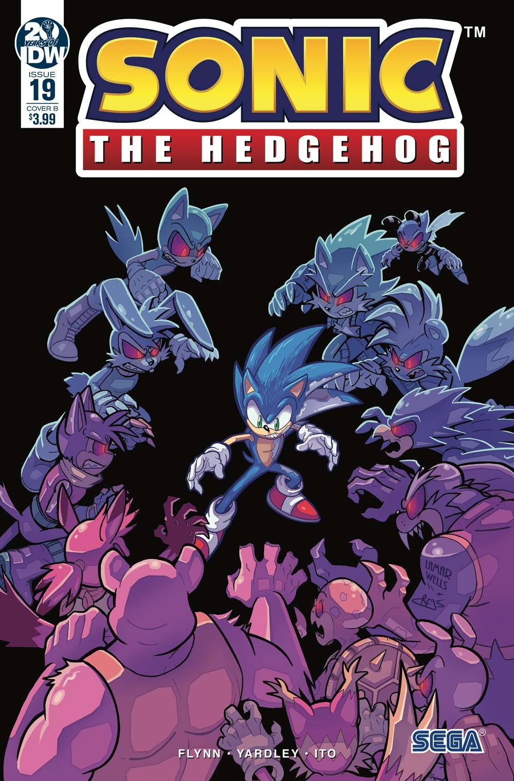 Sonic The Hedgehog #19 Cover B