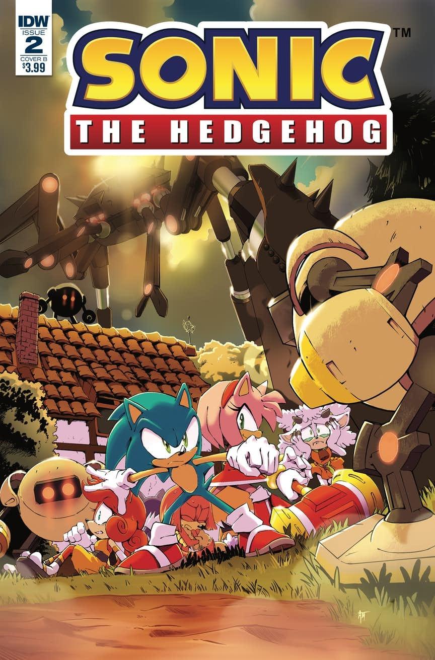 Sonic The Hedgehog #2 Cover B