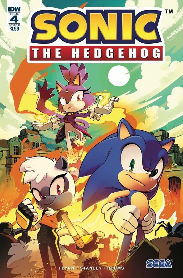 Sonic The Hedgehog #4 Cover B