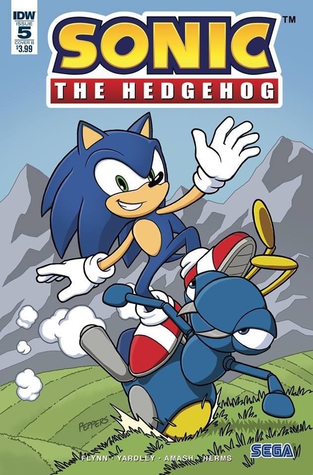 Sonic The Hedgehog #5 Cover B