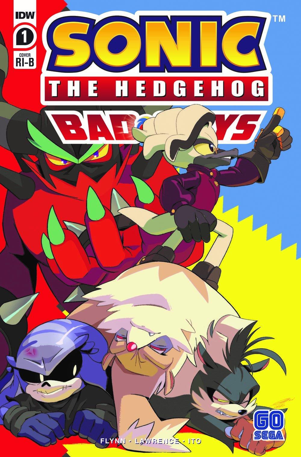 Sonic The Hedgehog: Bad Guys #1 RI-B