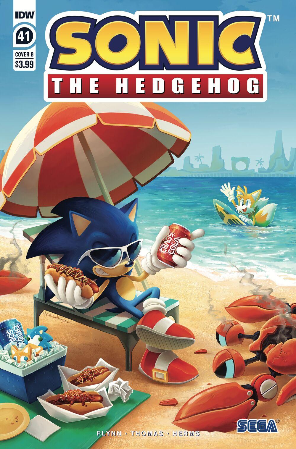 Sonic The Hedgehog #41 Cover B