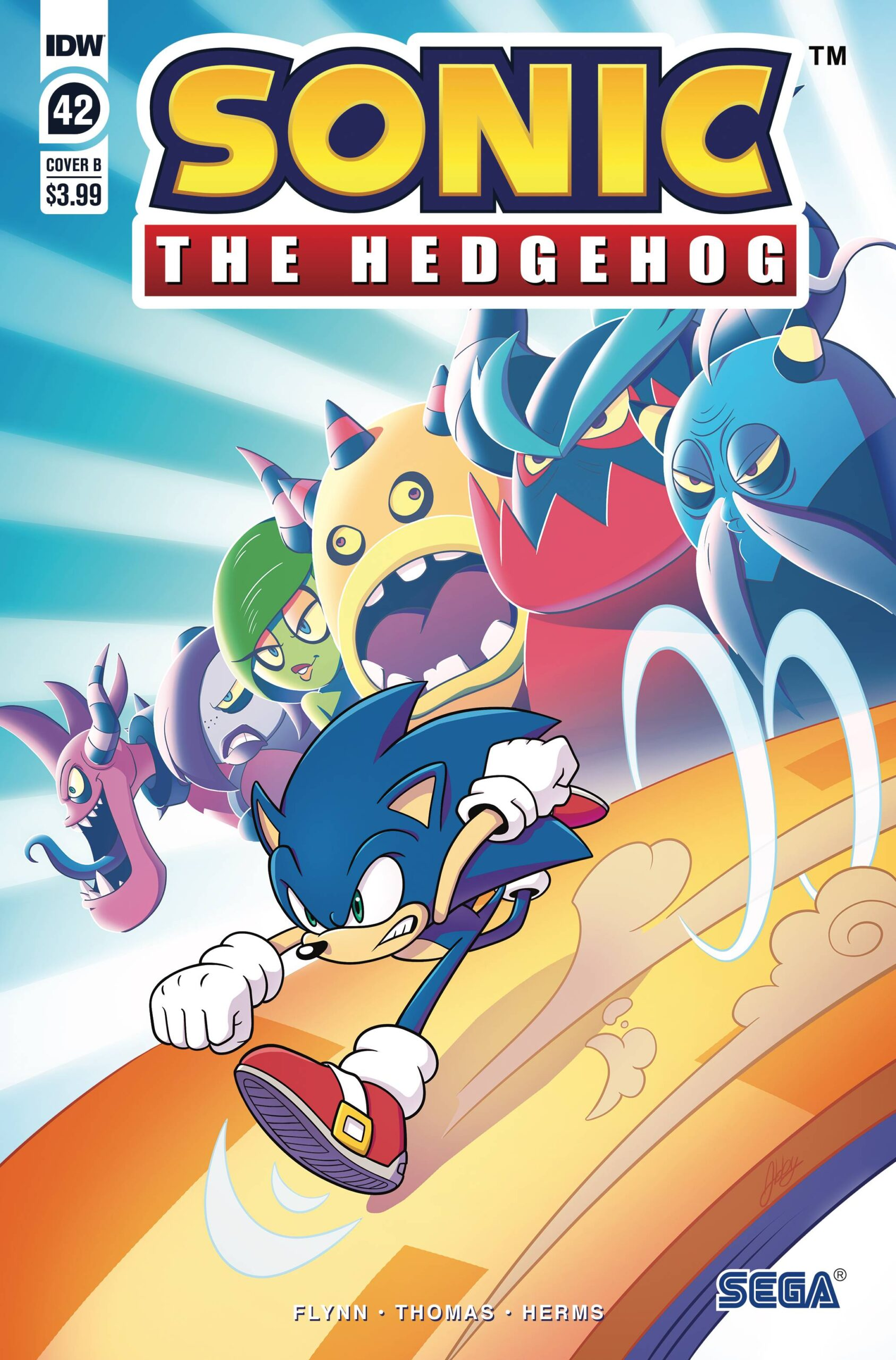 Sonic The Hedgehog #42 Cover B