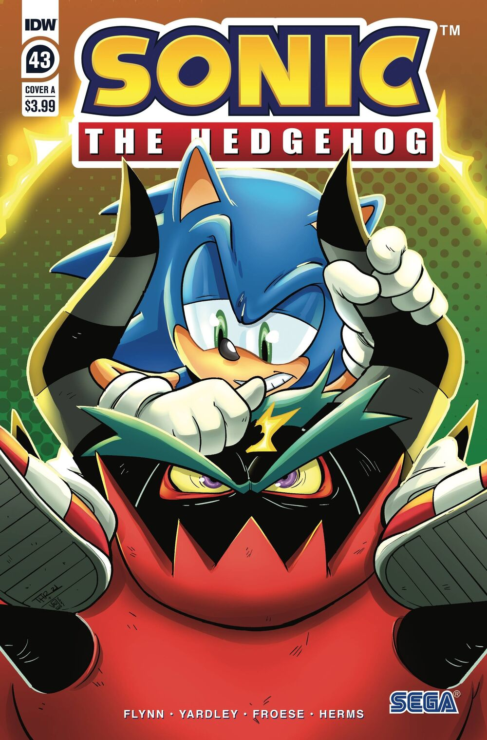 Sonic The Hedgehog #43 Cover A